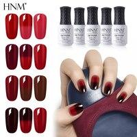 HNM 8ml Rot Farbe Temperatur Ändern Farbe UV Gel Nagellack Semi Permanent Glück Hybrid Emaille Thermo Gel Lack basis Top