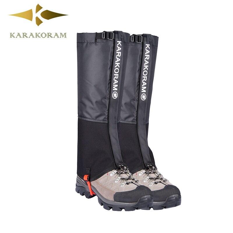 1 pair black waterproof hiking ski snow gaiters outdoor Legging Gaiter hot sale