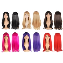 Long Straight Fancy Wig With Breathable Hairnet
