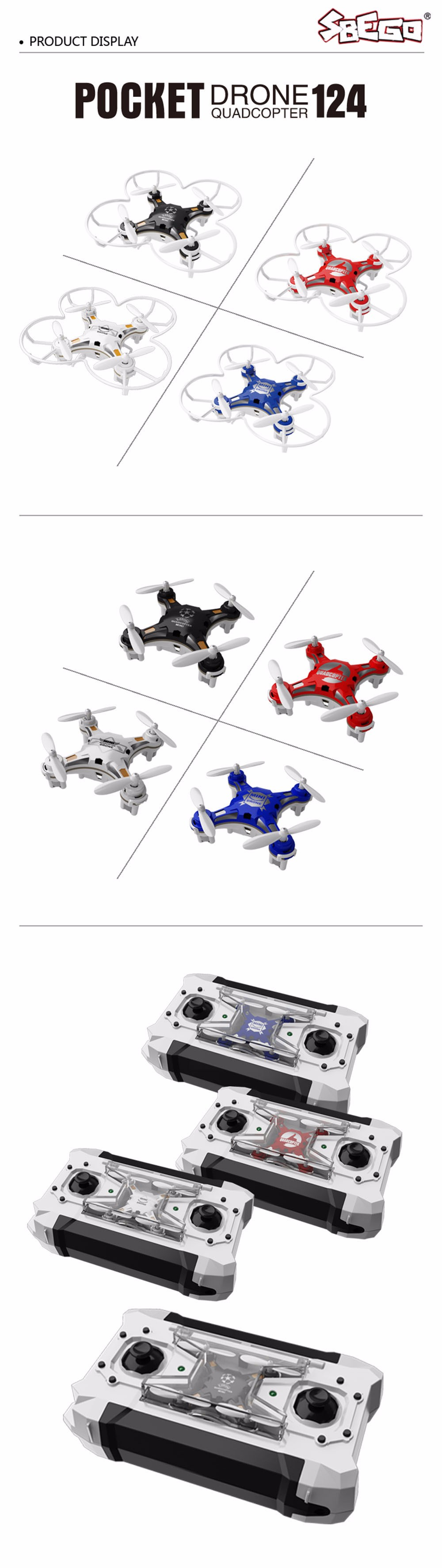 SBEGO FQ777-124 Mini Drone Micro Pocket 4CH 6Axis Gyro Switchable Controller RC Helicopter Kids Toys VS JJRC H37 H31 Quadcopter 16