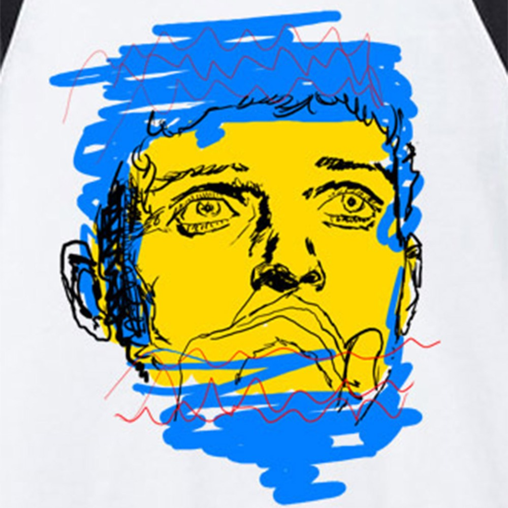 Ian curtis joy division pop art style hand drawing rock for Div style in html