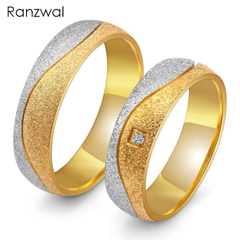 Ranzwal Тупая Полированная Нержавеющаясталь кольца для Для мужчин Для женщин Обещание Кольца для пар Свадебные украшения US размер 5 ~ 13 ARI220