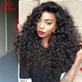 8A 180 Density Brazilian Human Hair Deep Wave Full Lace Wigs With Baby Hair Glueless Virgin Hair Lace Front Wig For Black Women