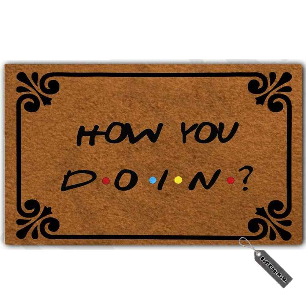 Doormat Entrance Mat Funny Doormat How You Doin Indoor Outdoor Decoration Door Mat 18x30 Inch