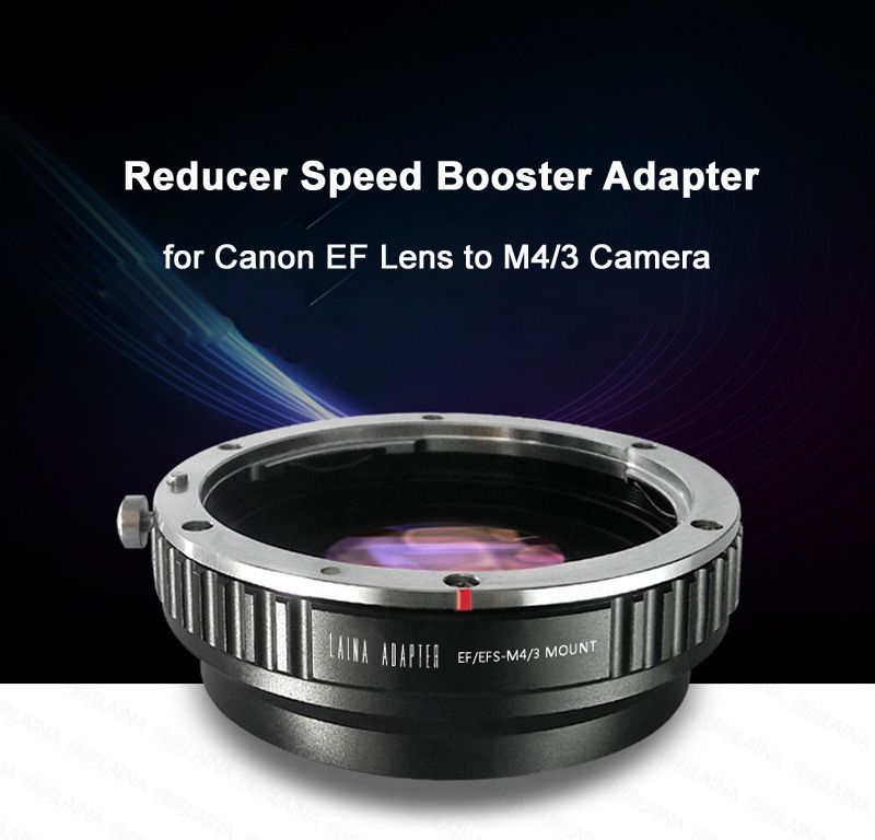 цена на Metal Focal Reducer Speed Booster Turbo Lens Adapter for Canon EF EOS Mount Lens to M4/3 Camera GH5 GH4 E-M10 E-M5 GF6 GX7 E-PL5