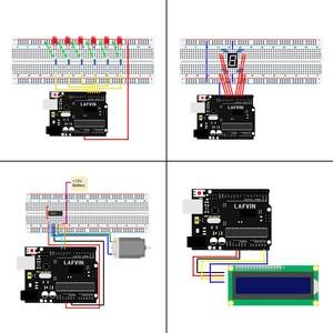 Image 4 - LAFVIN Super Starter KitสำหรับArduino UNO R3   Uno R3 Breadboard/ขั้นตอนมอเตอร์/1602 LCD/จัมเปอร์ลวด/CD Tutorial