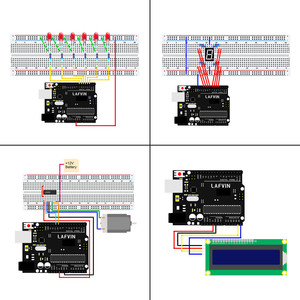 Image 4 - LAFVIN Super Starter Kit for Arduino UNO R3   Uno R3 Breadboard / Step Motor / 1602 LCD / jumper Wire / with CD Tutorial