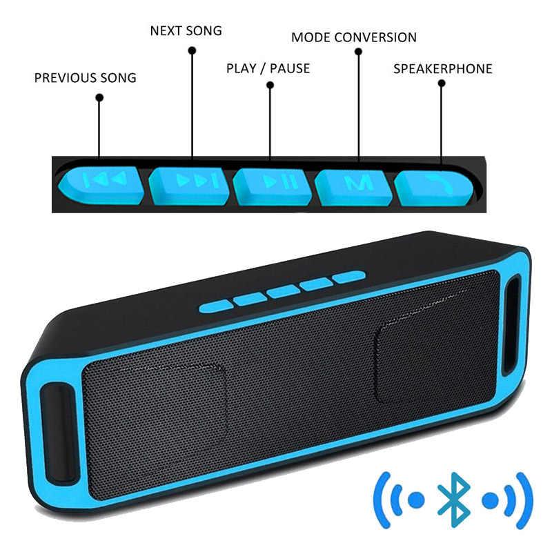 Bluetooth スピーカーワイヤレスポータブルステレオサウンドビッグ電源 10 ワットシステム MP3 音楽オーディオの Aux マイクアンドロイド Iphone SC208