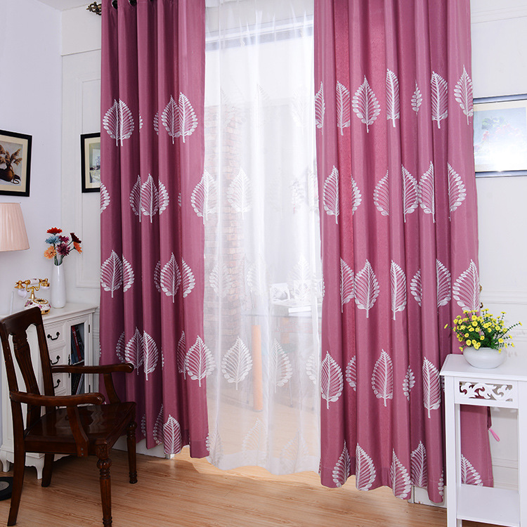 Pastoral Style Curtains for Bedroom With Leaves Luxury Living Room ...