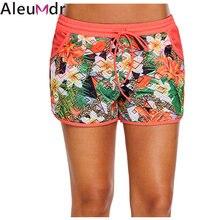 0330dbbd77 Aleumdr Board Shorts Swimwear Floral Print Lacy Shorts Attached Swim Bottom  Swimming Trunks Tankini Skirt with