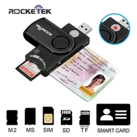 Rocketek Smart Card Reader DOD Military USB Smart Card Reader CAC Common Access Card Reader Writer