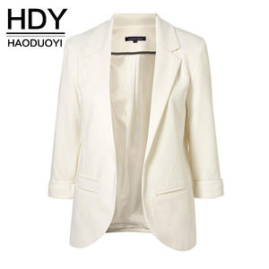 HDY Haoduoyi Women Jackets Office Black Ladies Blazer