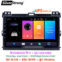 SilverStrong Android9.0 IPS 4G 9inch Car GPS Radio For Toyota Prado 120 Land Cruiser android9.0 IPS Prado120 for PIONEER/JBL amp