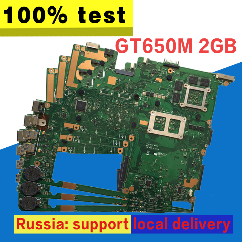 For ASUS N76VJ N76VB N76VZ N76VM N76V REV:2.2 Laptop Motherboard 2GB USB3.0 N13P-GT-A2 GT650M fully tested & working perfect S-4 100% original n13p gt a2 n13p gt a2 bga chipset