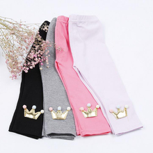 New Fashion Autumn Baby Pants Cotton Girl Pants Cartoon Toddler Girls Leggings Elastic Waist Casual Trousers Baby Clothes XL208