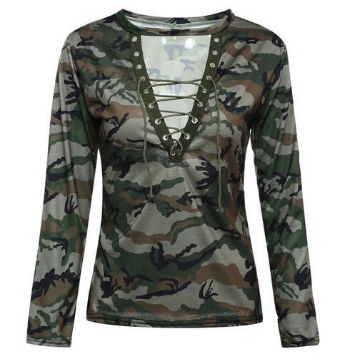 CT011JAN006 Fashion low cut hollow strap long short sleeve women s T shirt Dropshipping