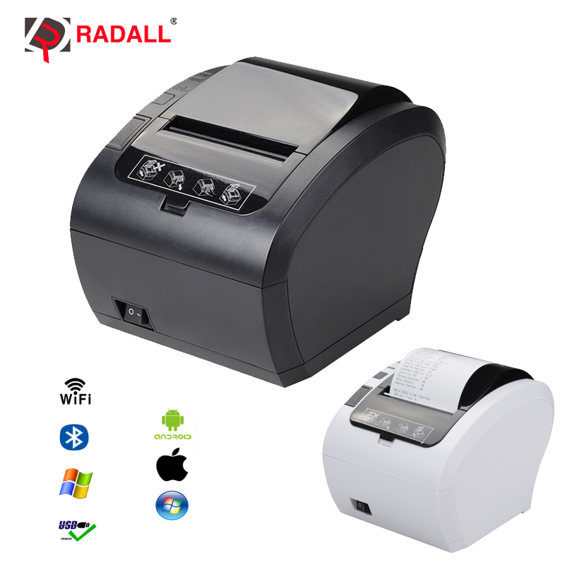 High Quality 80mm Thermal Receipt Printer WIFI Bluetooth USB LAN RS232 Kitchen Restaurant POS printer auto