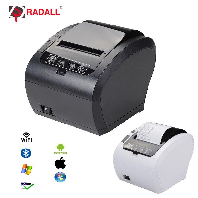 Alta Qualidade 80mm Receipt Impressora Térmica cortador Automático impressora de projeto de Lei WIFI/Bluetooth/USB/LAN/RS232 cozinha do Restaurante POS impressora