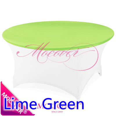 Lime Green Spandex Table Cloth Linen Fit For 5ft 6ft Round Tables,lycra  Table