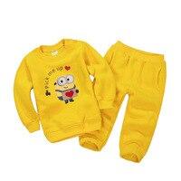 Enfants Garçons Costume de Sport Broderie Minions Filles Vêtements Set Enfant Bébé Garçons Shirts Tenues + Pantalon Ensemble enfants Survêtement