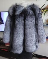 2017 New Fashion Silver Fox Fur Fox Fur Coat