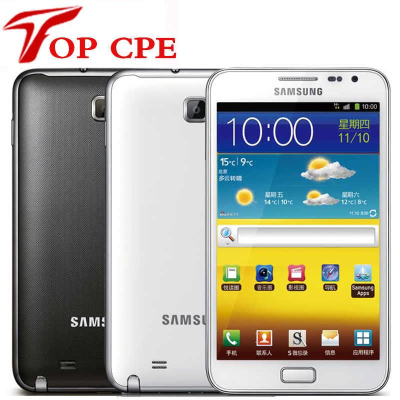 Оригинальный samsung Galaxy note i9220 n7000 ЕС версия двухъядерный 5,3 ''Android сотовый телефон 8MP Wifi gps сенсорный экран отремонтированный