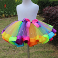 New Handmade Colorful Petticoat Baby Girl Skirt Kids Rainbow Tutu Skirts Hot Selling Pettiskirt Tutu For Custome Party Wedding