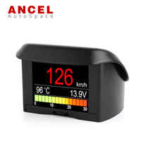 ANCEL A202 Mini OBD Digital Meter Display Coolant Temperature Gauge Voltage Tachometer Speed Smart Code DTC