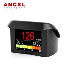Ансель A202 Smart Датчик OBD Мини show car Скорость счетчик воды Хладагент Температура расход топлива Напряжение Дисплей OBD2 сканирования
