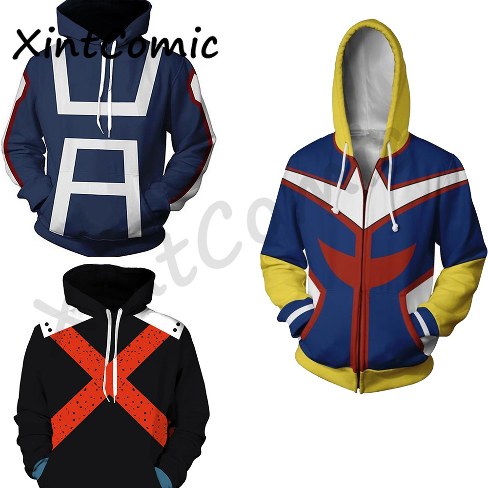 My hero academia hoodie izuku midoriya shouto todoroki boku no hero academia Cosplay Costume Sweatshirt All Might Zipper Jacket