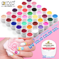 #20204 Hot Sael 2017 GDCOCO Beauty Pure Color Gel Fast Dry 5ml Soak Off UV Painting Gel Kit