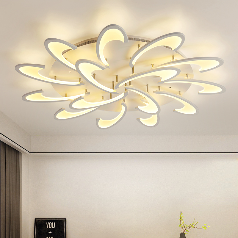 Modern LED Chandelier Lamp for Living Dining Room Bedroom LED Acrylic Chandeliers Light Remote Control Home Lighting Fixture