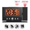 Balder Teto Parede Digital Projection Alarm Clock Snooze Backlight LCD Tempo de Exibição da Temperatura Interior Termômetro Relógio Temporizador