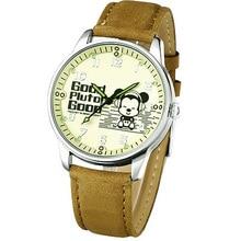 Disney бренда Детей Кварцевые часы 30 м водонепроницаемые часы дети Мальчик Микки Мультфильм Аниме Световой Матовая кожа