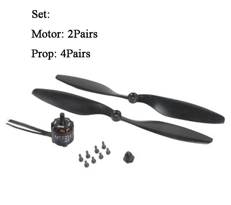 2Pairs Original Emax Cooling New MT2216 II 810KV Brushless Motor CW CCW + 1045 Propellers for FPV Multicopter RC Drone 4pcs se1104 kv4000 kv6000 kv7500 brushless motor with 2pairs 2035 2045 propellers for rc quadcopter fpv racing drone