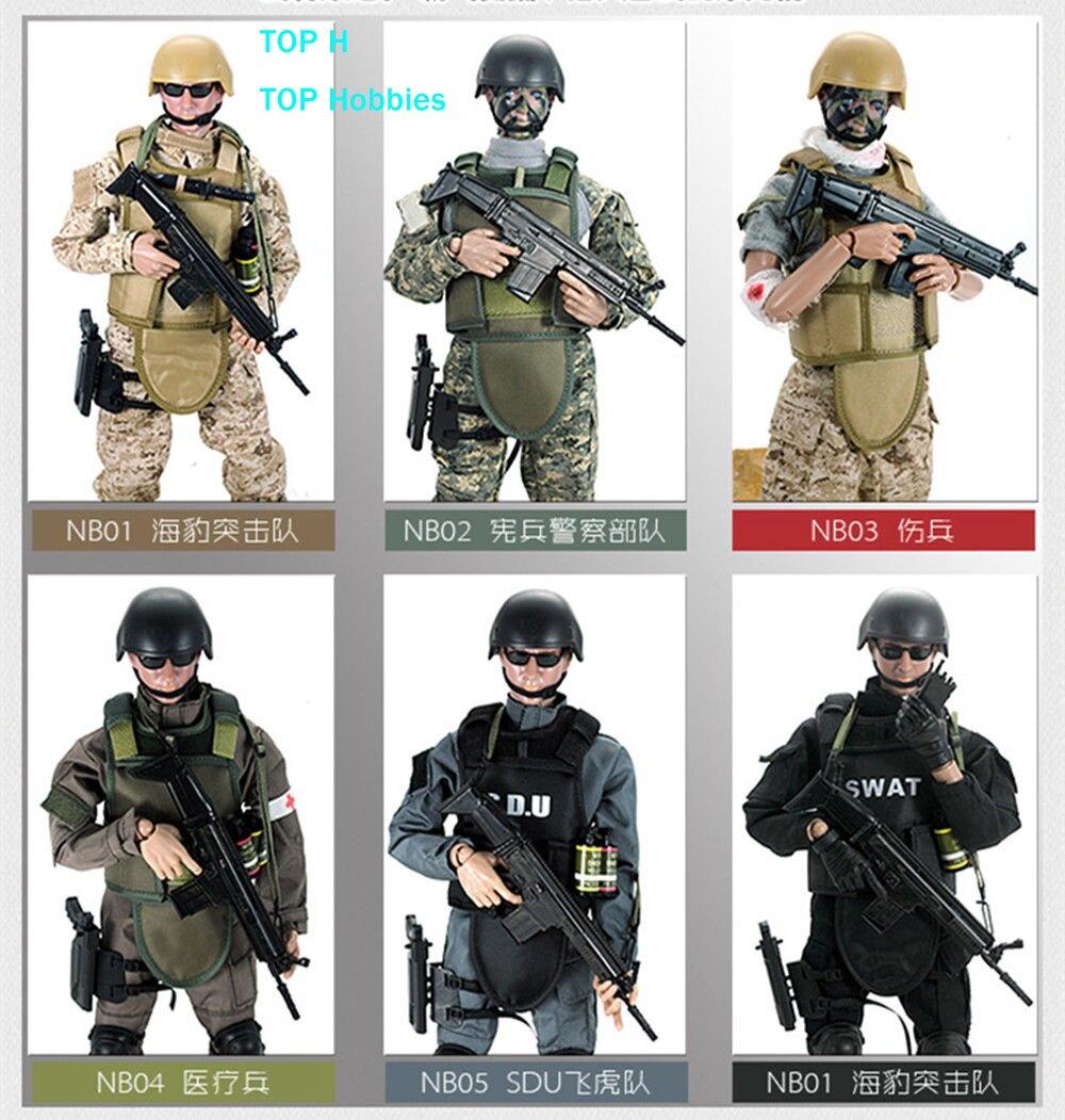 1 PCS 12 1/6 SWAT SDU SEALs Uniforme Militaire de L'armée Combat Jeu Jouets Soldat Ensemble avec la Boîte de Détail Action Figure Modèle jouets chaude