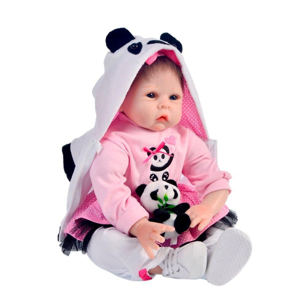 KEIUMI 22 Cal realistyczne Baby Girl lalki 55cm tkaniny ciała realistyczne noworodka żywe niemowlęta zabawki dla dziecka przed snem grać na początku edukacji w Lalki od Zabawki i hobby na  Grupa 2