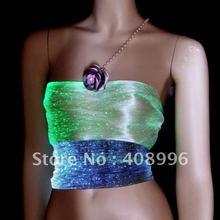 Сексуальный светящийся жилет из оптического волокна для выступлений/модных шоу/шоу одежды