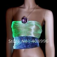Сексуальная оптическое волокно Световой жилет для производительности/модный показ/show Костюмы