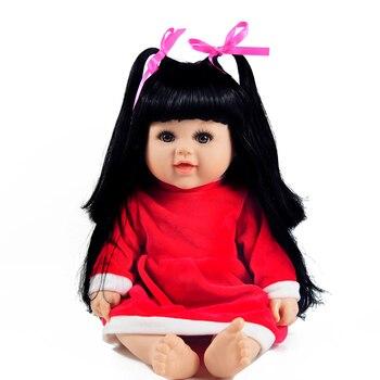 Long Hair BJD Doll Reborn Babies Handmade Vinyl Toddler for Children 1 4 sd bjd doll cute and nice big eyes princess girl brown long hair pink dress lifelike reborn babies boneca children gift