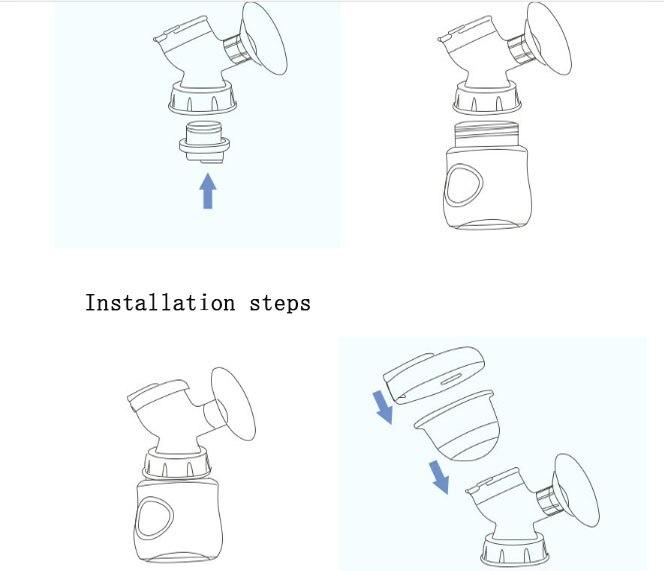 Dispositif d'aspiration mammaire 9 engins bébé outil USB allaitement travail tire lait électrique double hotte d'aspiration machine à lait électrique - 4