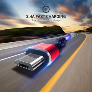 Image 2 - Qgeemマイクロusbケーブル2.4Aナイロン高速充電usbデータケーブルサムスンxiaomi lgタブレットandroid携帯電話usb充電ケーブル