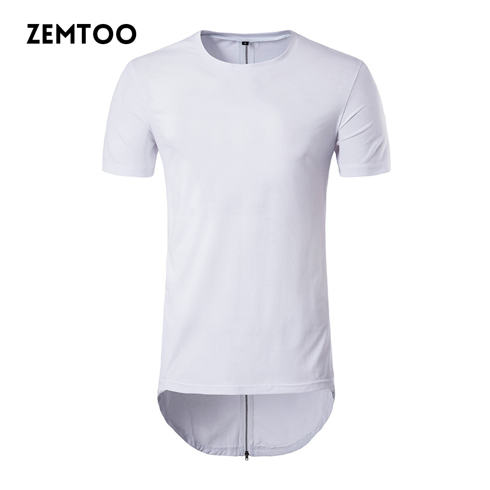 zemtoo Fashion Men's  Casual T shirt Brand Mens O-neck Cotton Short Sleeve Tops Camisa Slim Male Long Style T-shirts ZM0117