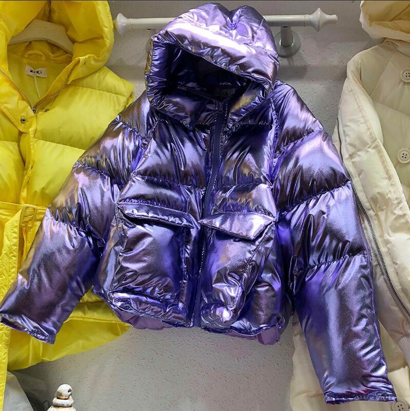2018 Winter   Parka   Women's Warm Down Cotton-padded Short Bright Candy Color High Waist Loose Coats Girls Student   Parkas   Coats