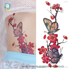 QC651-677 20X10cm Long Colorful Tatuajes Temporales Tattoo Sleeves Body Art Flowers Series Temporary Flash Tatoos Sticker Taty