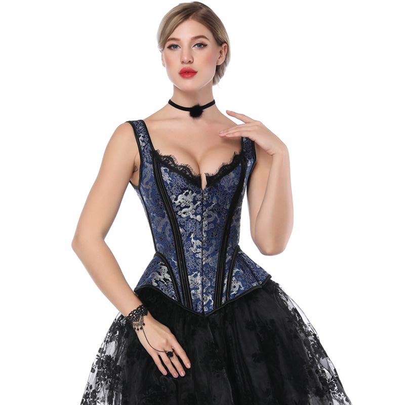 Steampunk Corset Women Gothic Clothing Bustier Sexy Overbust Retro