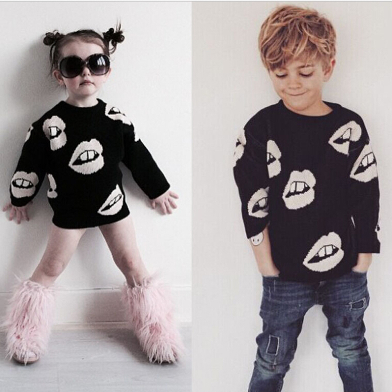 2016 KIDS Brand Winter Baby Sweater Girls Boys Black White Lips Knitted  Autumn Cardigan Baby Outfits - Online Get Cheap Boys Black Sweater -Aliexpress.com Alibaba Group