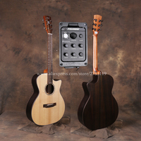 40 Cutaway Electric Guitars With 20mm cotton bag,Solid Spruce Top/Rosewood Body guitarra eletrica With LCD Pickup