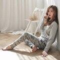 2015 Camuflaje Pijamas Mujer Pijamas Pijamas Para Las Mujeres Pijama Femme Entero Masculino Feminino Pijama Pijama ropa de Dormir de Las Mujeres