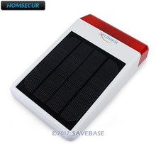 HOMSECUR Solar Powered Waterproof Outdoor Strobe Siren A16 For Home Security font b Alarm b font